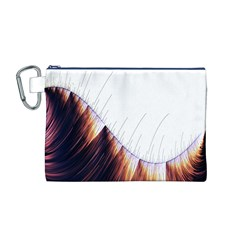 Abstract Lines Canvas Cosmetic Bag (M)