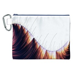 Abstract Lines Canvas Cosmetic Bag (XXL)