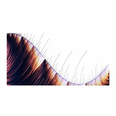 Abstract Lines Satin Wrap