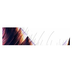 Abstract Lines Satin Scarf (Oblong)