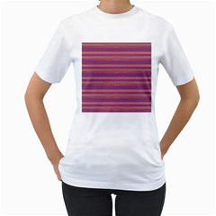 Lines Women s T-Shirt (White) (Two Sided)