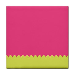 Pink Yellow Scallop Wallpaper Wave Tile Coasters