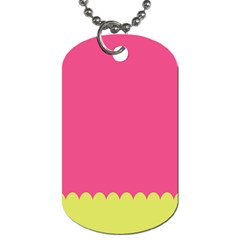 Pink Yellow Scallop Wallpaper Wave Dog Tag (two Sides)