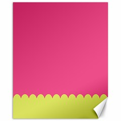 Pink Yellow Scallop Wallpaper Wave Canvas 16  X 20