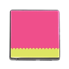 Pink Yellow Scallop Wallpaper Wave Memory Card Reader (square)