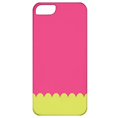 Pink Yellow Scallop Wallpaper Wave Apple Iphone 5 Classic Hardshell Case