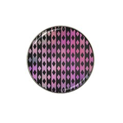 Old Version Plaid Triangle Chevron Wave Line Cplor  Purple Black Pink Hat Clip Ball Marker