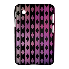Old Version Plaid Triangle Chevron Wave Line Cplor  Purple Black Pink Samsung Galaxy Tab 2 (7 ) P3100 Hardshell Case