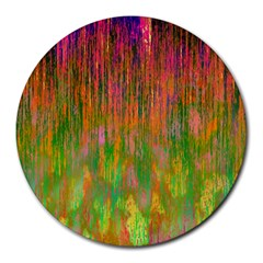 Abstract Trippy Bright Melting Round Mousepads