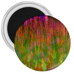 Abstract Trippy Bright Melting 3  Magnets