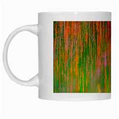Abstract Trippy Bright Melting White Mugs