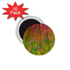 Abstract Trippy Bright Melting 1 75  Magnets (10 Pack)