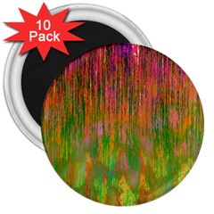 Abstract Trippy Bright Melting 3  Magnets (10 pack)