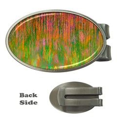 Abstract Trippy Bright Melting Money Clips (Oval)