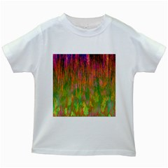Abstract Trippy Bright Melting Kids White T-Shirts