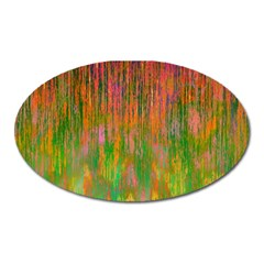 Abstract Trippy Bright Melting Oval Magnet