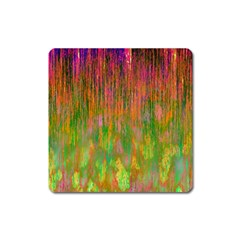 Abstract Trippy Bright Melting Square Magnet