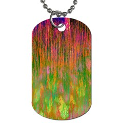 Abstract Trippy Bright Melting Dog Tag (One Side)