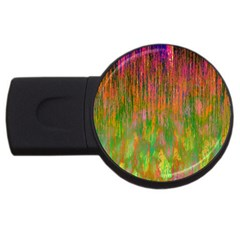 Abstract Trippy Bright Melting Usb Flash Drive Round (2 Gb)