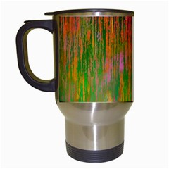 Abstract Trippy Bright Melting Travel Mugs (white)