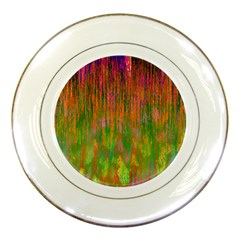Abstract Trippy Bright Melting Porcelain Plates