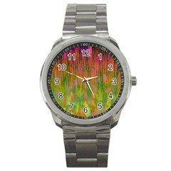 Abstract Trippy Bright Melting Sport Metal Watch