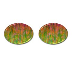 Abstract Trippy Bright Melting Cufflinks (oval)