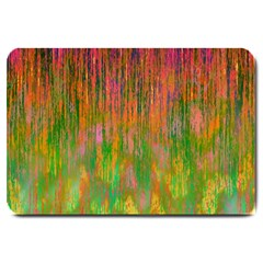 Abstract Trippy Bright Melting Large Doormat
