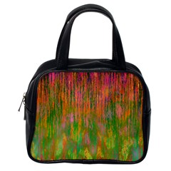 Abstract Trippy Bright Melting Classic Handbags (one Side)