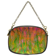 Abstract Trippy Bright Melting Chain Purses (two Sides)
