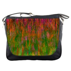 Abstract Trippy Bright Melting Messenger Bags