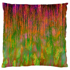 Abstract Trippy Bright Melting Large Cushion Case (One Side)