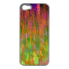 Abstract Trippy Bright Melting Apple iPhone 5 Case (Silver)