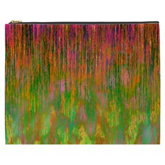 Abstract Trippy Bright Melting Cosmetic Bag (XXXL)