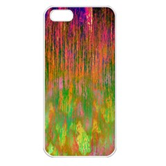 Abstract Trippy Bright Melting Apple iPhone 5 Seamless Case (White)