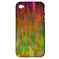 Abstract Trippy Bright Melting Apple iPhone 4/4S Hardshell Case (PC+Silicone)