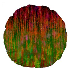Abstract Trippy Bright Melting Large 18  Premium Round Cushions