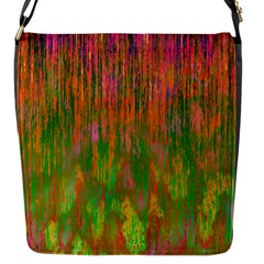 Abstract Trippy Bright Melting Flap Messenger Bag (S)