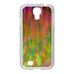 Abstract Trippy Bright Melting Samsung GALAXY S4 I9500/ I9505 Case (White)