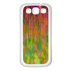 Abstract Trippy Bright Melting Samsung Galaxy S3 Back Case (White)