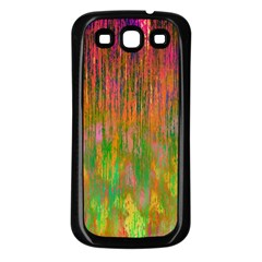 Abstract Trippy Bright Melting Samsung Galaxy S3 Back Case (Black)
