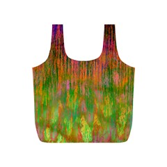 Abstract Trippy Bright Melting Full Print Recycle Bags (S)