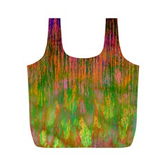 Abstract Trippy Bright Melting Full Print Recycle Bags (M)