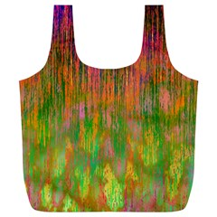 Abstract Trippy Bright Melting Full Print Recycle Bags (L)
