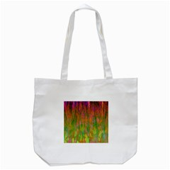Abstract Trippy Bright Melting Tote Bag (White)