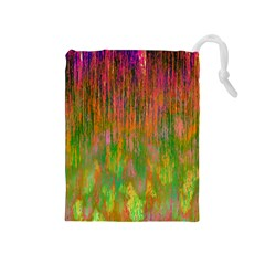Abstract Trippy Bright Melting Drawstring Pouches (Medium)