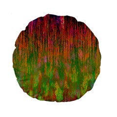 Abstract Trippy Bright Melting Standard 15  Premium Flano Round Cushions