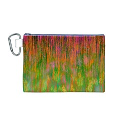 Abstract Trippy Bright Melting Canvas Cosmetic Bag (M)