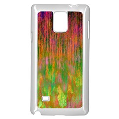 Abstract Trippy Bright Melting Samsung Galaxy Note 4 Case (white)