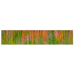 Abstract Trippy Bright Melting Flano Scarf (small)
